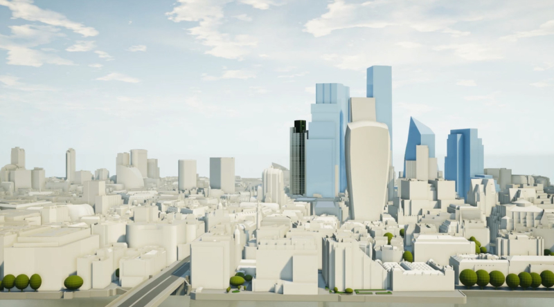 3D Model of London - Future Skyline