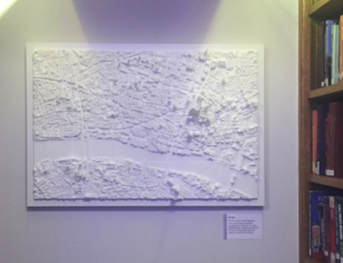3D Printed model of London at RICS Library London
