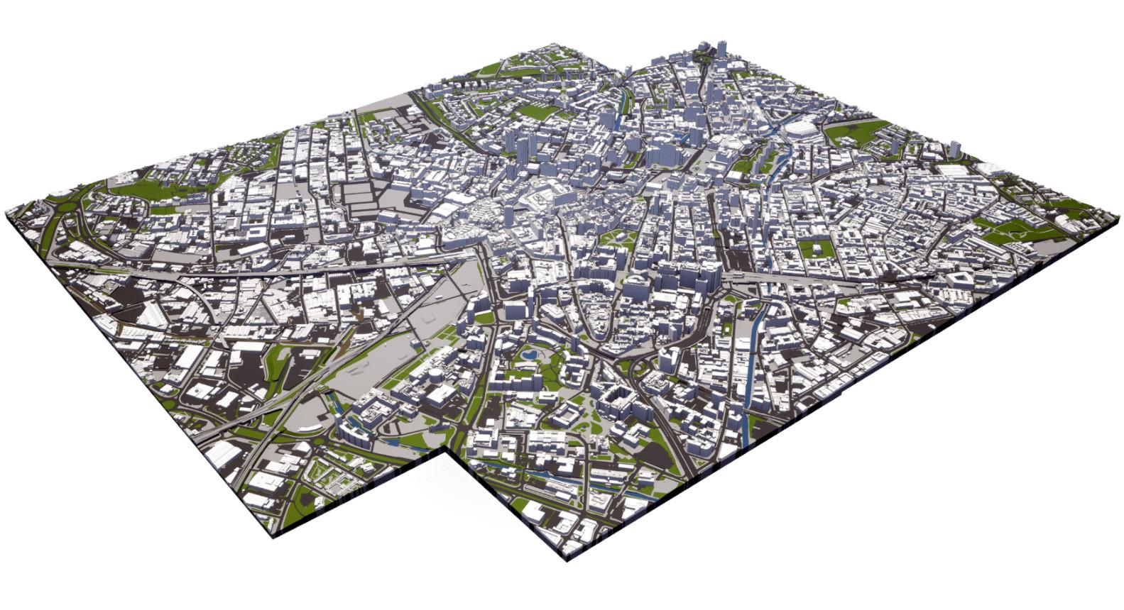 3D city model of Birmingham