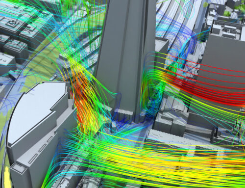 3D London in SimScale wind comfort simulation