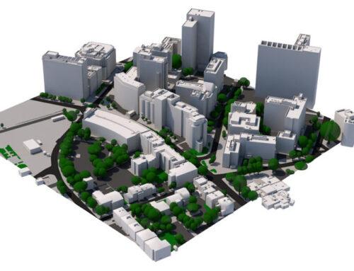 Custom High Detail 3D Model of Croydon