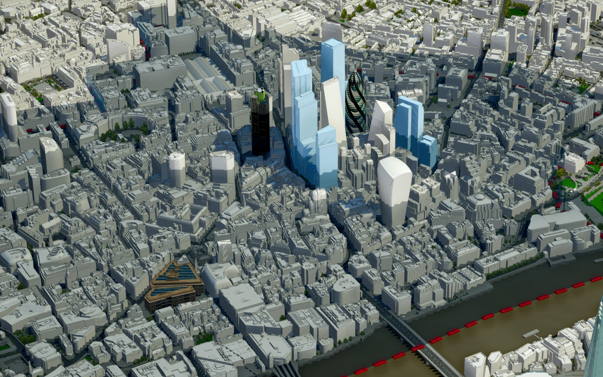 Free 3D Model of London Download | 3D City Models Gallery