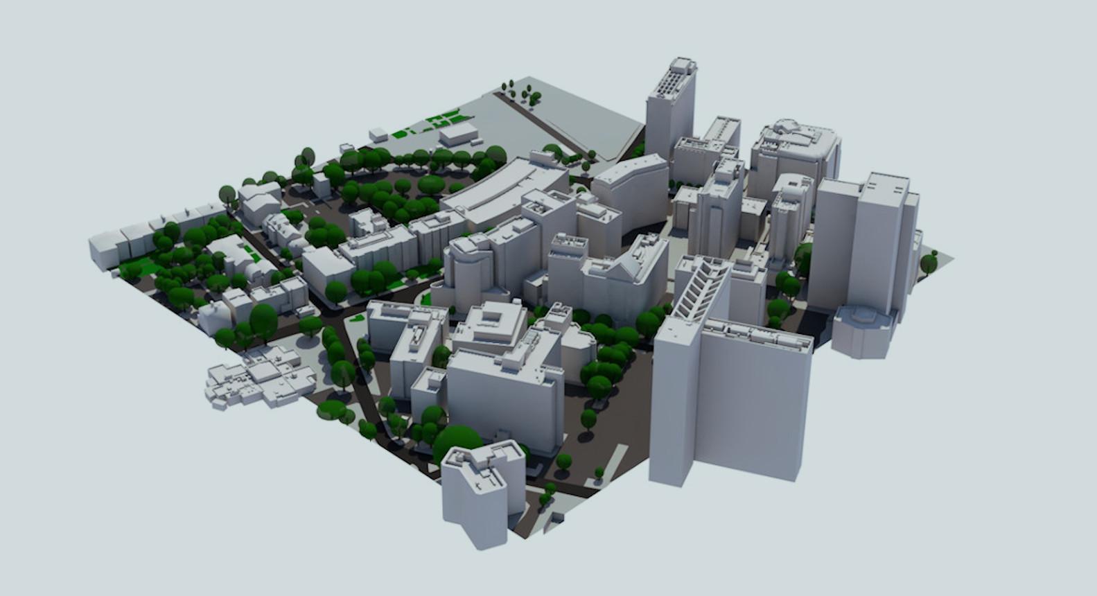 0.1 km2 Small Custom 3D Model, Croydon