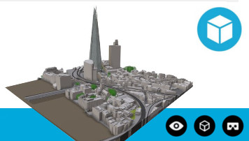 3D Model of London Interactive Sample High Detail