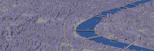 25 km sq Base 3D Model of London