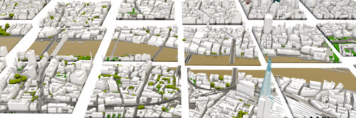 AccuCities 3D Model of London in Tiles