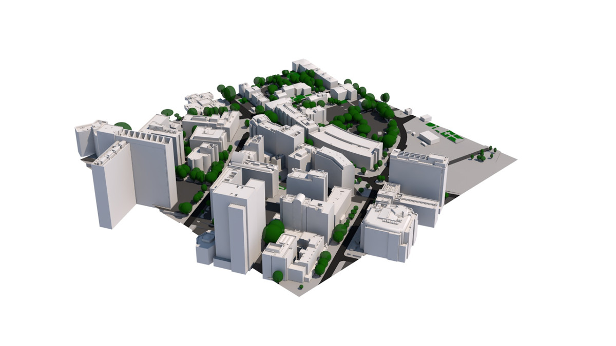 3D Model of Croydon by AccuCities 4