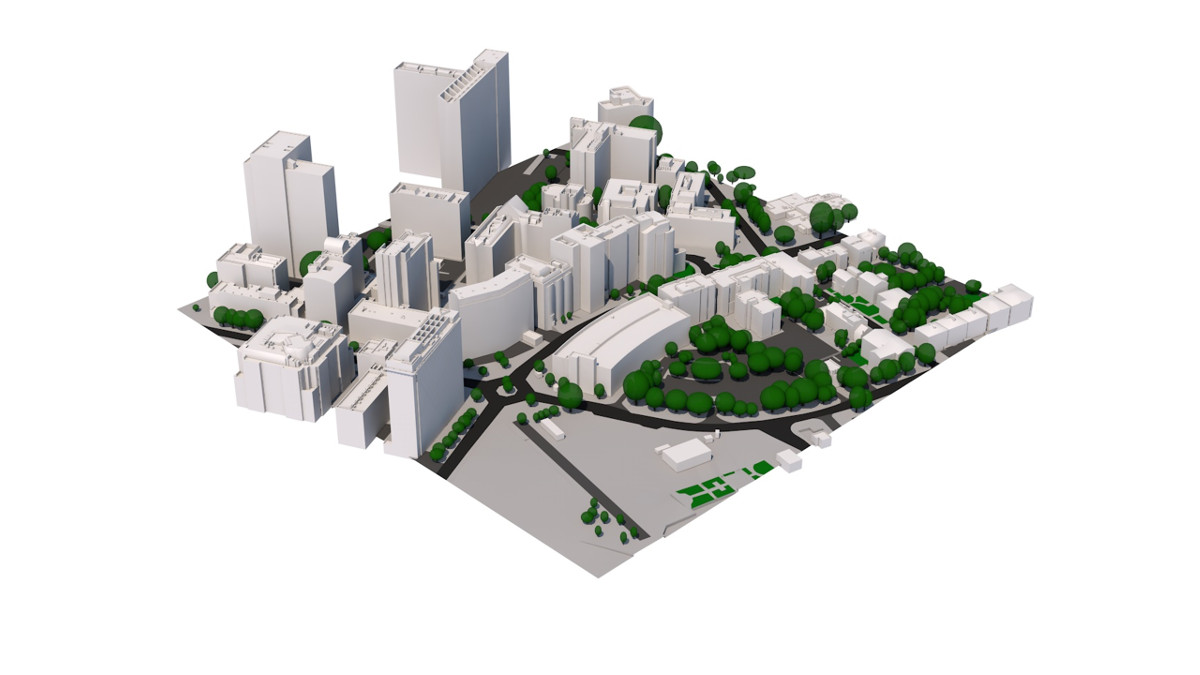 3D Model of Croydon by AccuCities 3