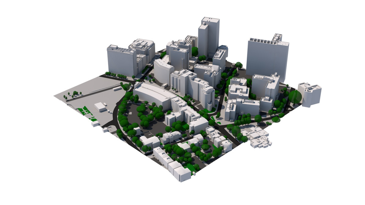 3D Model of Croydon by AccuCities 2