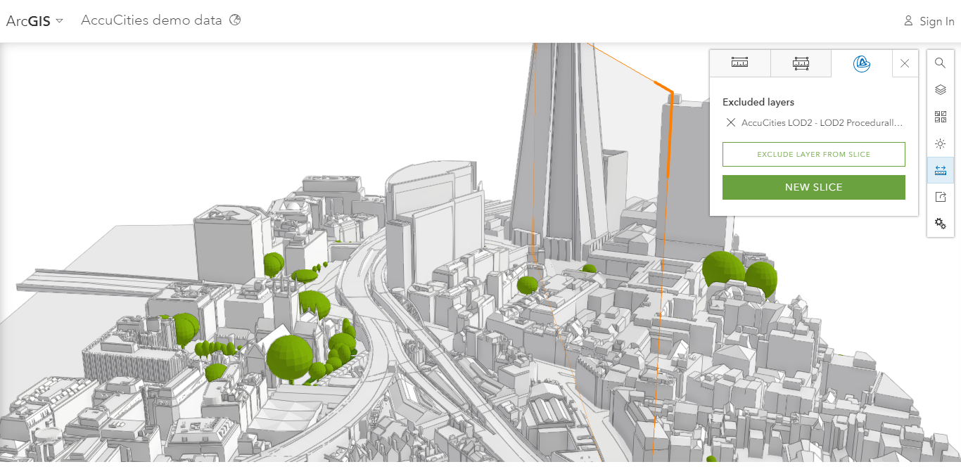 3D models of London in arcgis - direct comparison
