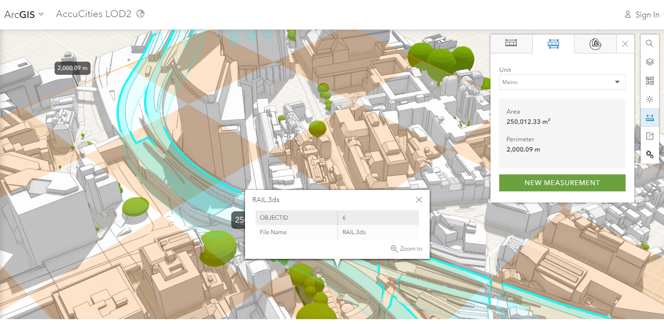 3D Model of London Online in ArcGIS | AccuCities City Model